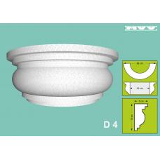 Капител / База D 4 - 5x10 см