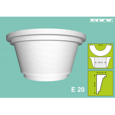 Капител / База E 20 - 12x24 см