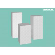 Квадратни плътни коктейлни / парти масички - 3 броя